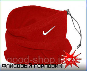 Теплый горловик Nike красного цвета  (люкс копия)
