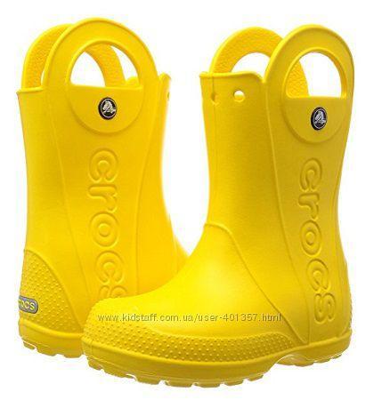 Супер классные яркие резиновые сапожки (Размер J3 - 22см) Crocs Rain Boot (США) оригинал