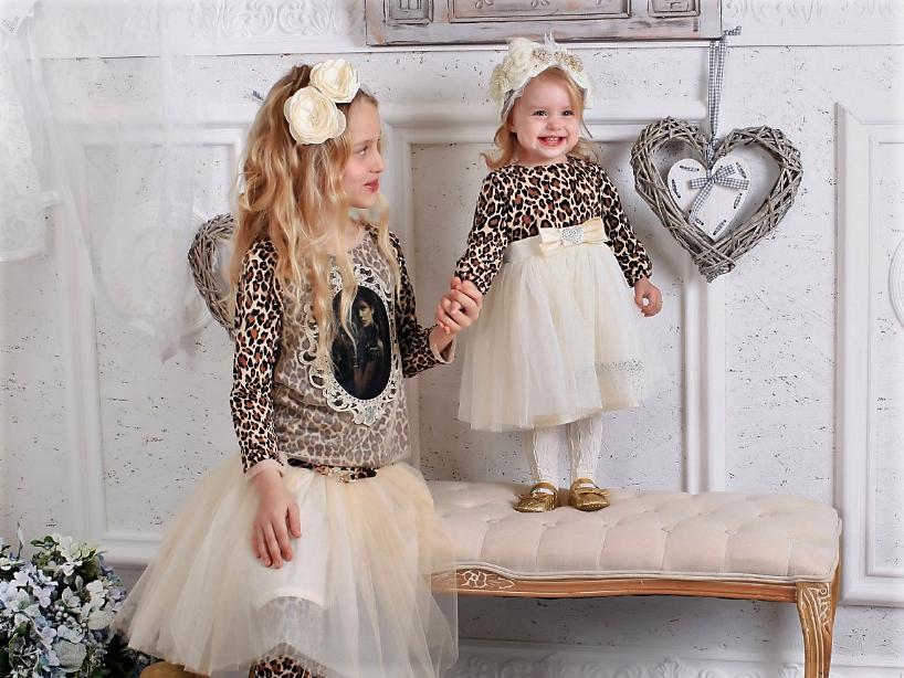Леопардовое платье для маленькой девочки р-р 74,80,86,92