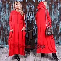 Батальное платье макси в стиле бохо. 2 цвета!