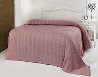 Вязаный плед Aren 220*240 Турция в подарочной коробке цвет Розовый, фото 1