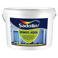 Краска Sadolin Domus Aqua - краска для дерева, белый BW, 10 л.