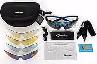 Велосипедные, солнцезаитные, тактические очки Rockbros 5 в 1
