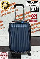 Мини пластиковый синий чемодан на 4 колесах Wings  Украина Одесса