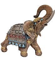 Садовая фигурка Слон индийский бронза светлый 25 см