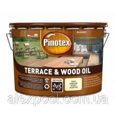 PINOTEX TERRACE & WOOD OIL Тонируемое атмосферостійке деревозахистний масло 10 л