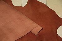 Натуральная кожа КРС Краст цвет кирпич.