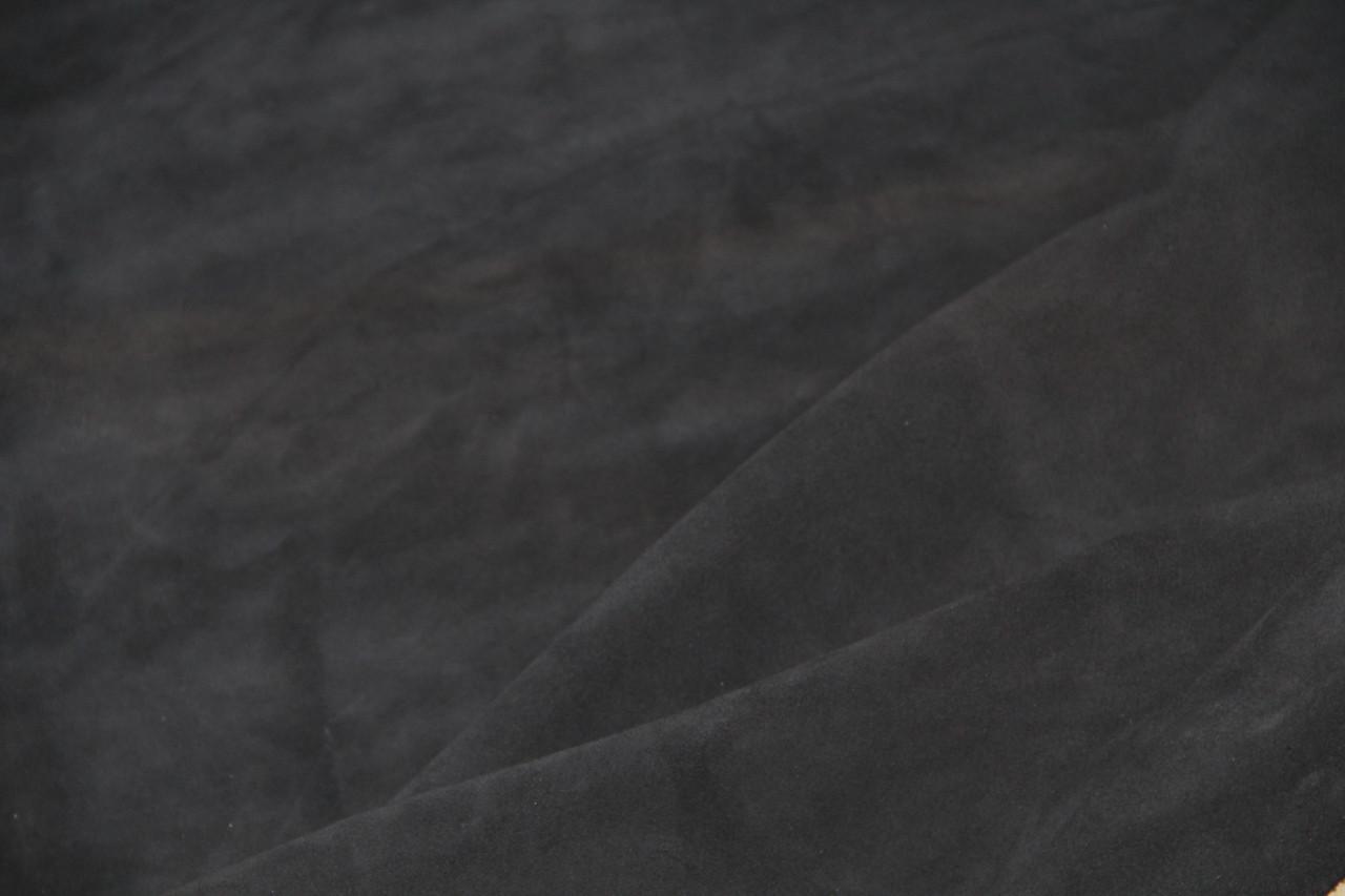 Натуральная кожа КРС велюр синий