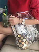 Прозора сумка-шопер / Прозрачная сумка+шопер