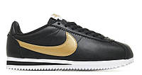 "Кроссовки Nike Cortez Glitter Pack ""Black/Gold""  (Копия ААА+)"
