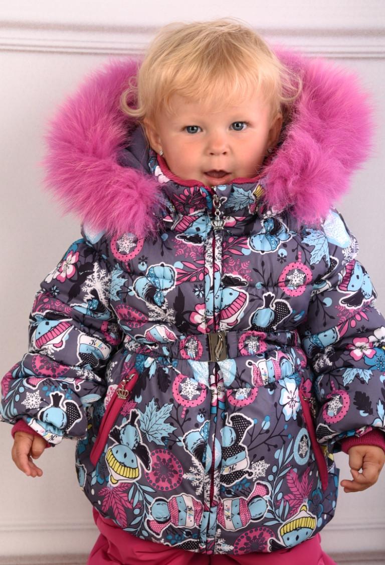 Детский зимний комбинезон для девочки KIKO, Кико 4550, на рост от 74-92