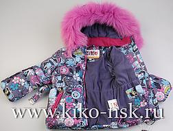 Детский зимний комбинезон для девочки KIKO, Кико 4550, на рост от 74-92, фото 3
