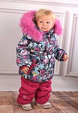Детский зимний комбинезон для девочки KIKO, Кико 4550, на рост от 74-92, фото 2