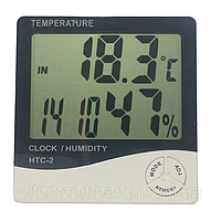 Термометр цифровой с влажностью и часами