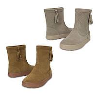 Сапоги деми замшевые женские Crocs Women's LodgePoint Suede Pull-On Boot / полусапоги