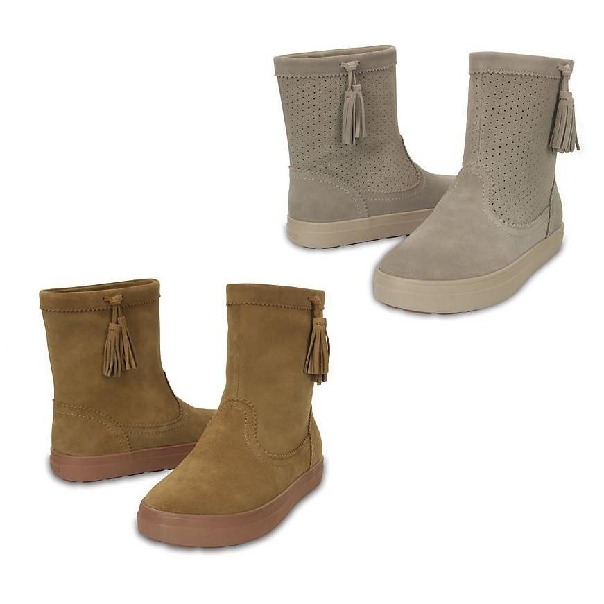 Сапоги деми замшевые Crocs Women's LodgePoint Suede Pull-On Boot / полусапоги