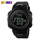 • Оригинал! Skmei(Скмей)1231 Black  Compass | Cпортивные часы с компасом!, фото 2