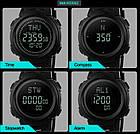 Cпортивные часы Skmei (Скмей) 1231 Black с компасом, фото 6