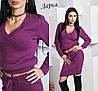 Вязаный костюм-двойка свитер и юбка, фото 4