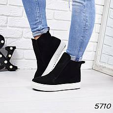 """Ботинки, ботильоны черные """"Jill"""" НАТУРАЛЬНАЯ ЗАМША, повседневная, демисезонная, осенняя, женская обувь, фото 3"""