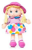 Мягконабивная кукла в шляпке, 36 см (лиловая), Devilon