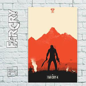 Постер Far Cry 4 (минималистичный). Размер 60x39см (A2). Глянцевая бумага