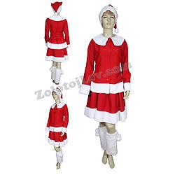 Прокат костюма Санта Клауса для дівчини