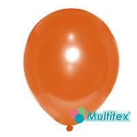 "Шар 10"" (25 см), оранжевый, металлик"