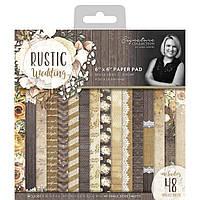 Набір одностороннього паперу - Rustic Wedding - Signature - 15х15 - 180 г.м.кв. Ціна за 1.3 набору (16 л.)
