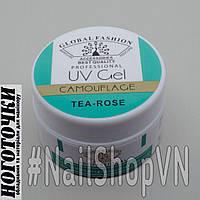 Гель для моделирования ногтей однофазный Global Fashion Uv Gel Camouflage 15g Tea-Rose