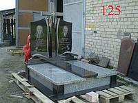 Двойной памятник из гранита покостов и базальта