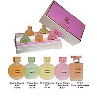 Подарочный набор мини флаконов Chanel Pink 5*8,5ml (копии)