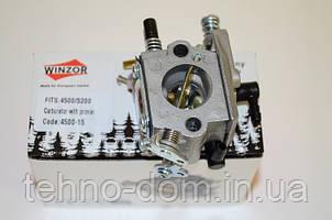 Карбюратор бензопилы GL 4500/5200 Winzor (з подкачкой)