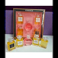 Парфюмерный подарочный набор Chance Chanel Шанель 5 в 1 копии