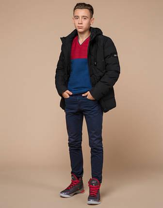 Подросток 13-17 лет |  Куртка зимняя Braggart Teenager 25480 черная, фото 2