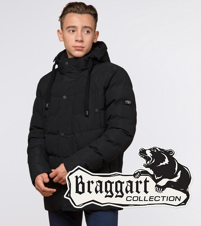 Подросток 13-17 лет |  Куртка зимняя Braggart Teenager 25480 черная