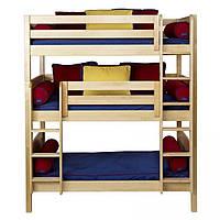"""Трехъярусная деревянная кровать """"Лозанна"""" от производителя, фото 1"""