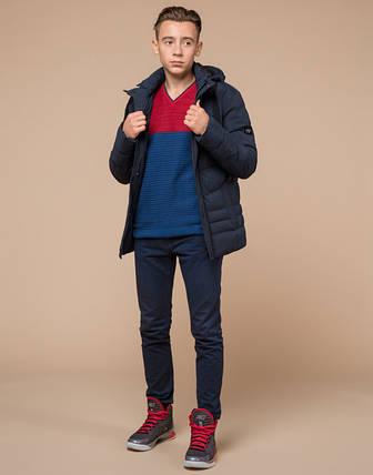 Подросток 13-17 лет    Зимняя куртка Braggart Teenager 25480 темно-синяя, фото 2