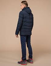 Подросток 13-17 лет    Зимняя куртка Braggart Teenager 25480 темно-синяя, фото 3