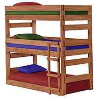 """Трехъярусная кровать """"Рейн"""" из массива натурального дерева"""