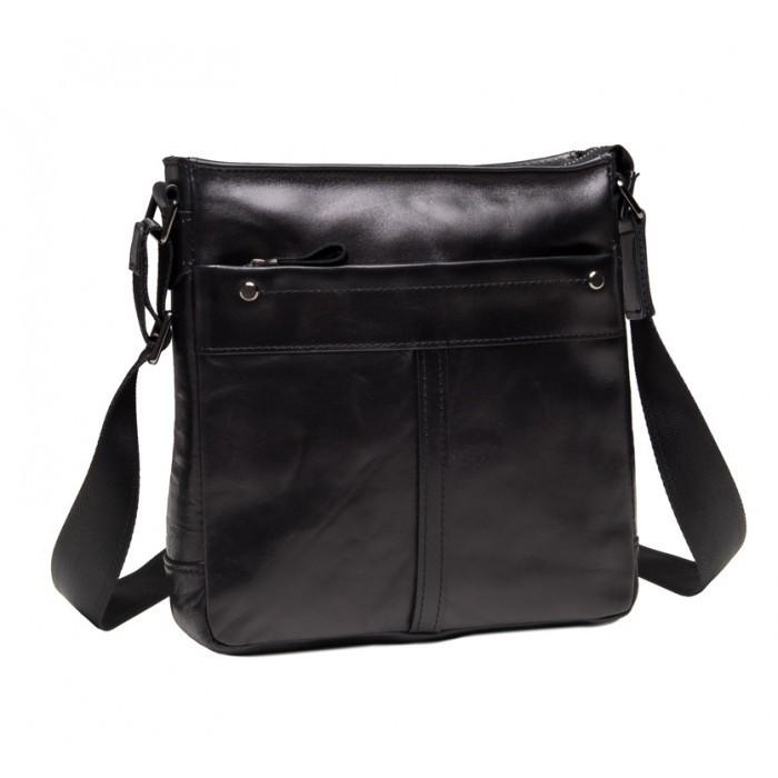 23c759a21359 Повседневная мужская сумка через плечо из гладкой кожи TIDING BAG 8030A  черная