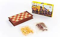 Шахматы дорожные пластиковые на магнитах, пластик, р-р 30x30см. (SC5700), фото 1