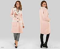 Стильное осеннее пальто с мехом на овчине