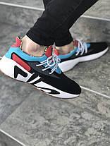 6b46b4cd116 Мужские кроссовки FILA x HungryEyes Mindbreaker 2.0 Black/Blue/Red, фото 3