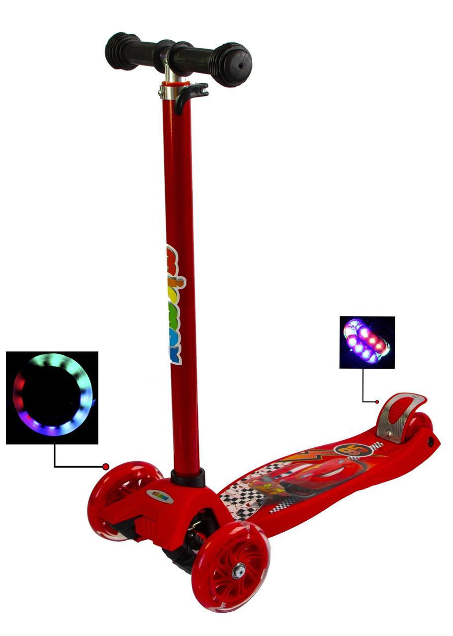 Самокат Maxi Scooter Disney Тачки Молния Маквин Гарантия качества Быстрая доставка