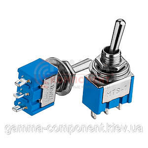 Тумблер MTS-102, ON-ON, 6А (3 pin), 250VAC