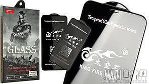 Защитное стекло для iPhone XS Max 6,5 King Fire Tech 5D  (черный)