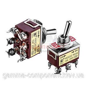 Тумблер KN(3)С-202 ON-ON, 15А (6 pin), 250VAC