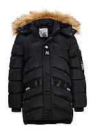 Стильная зимняя удлиненная куртка на мальчика, детская подростковая ТМ Glo-story  Рост 128-170
