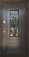 """Входная дверь для улицы """"Портала"""" (ЛЮКС RAL со стеклопакетом + Vinorit) ― модель S-3 (Дерево)"""